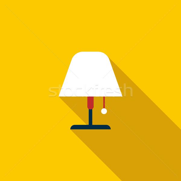 Floor lamp icon, flat style Stock photo © ylivdesign
