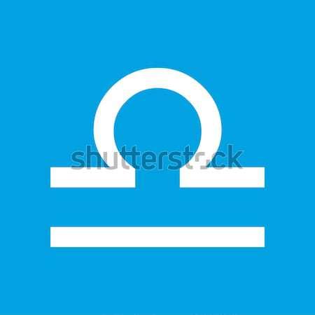 Libra black icon Stock photo © ylivdesign