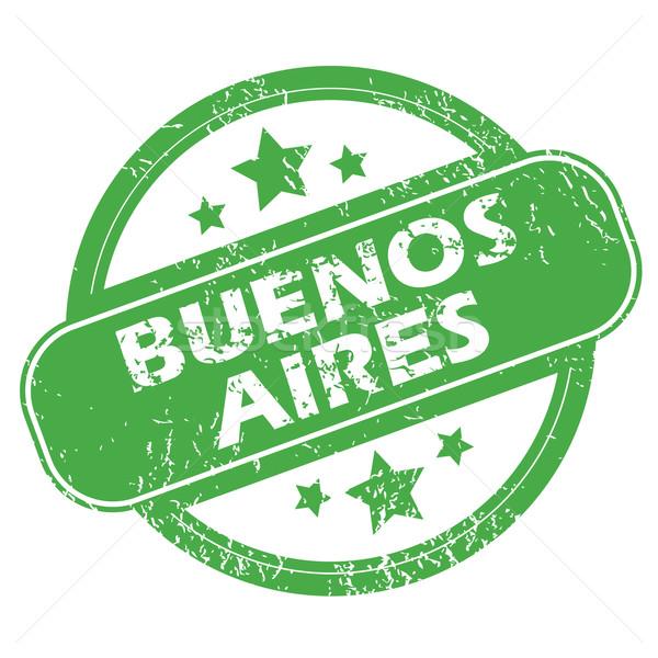 Buenos Aires zöld bélyeg pecsét név csillagok Stock fotó © ylivdesign