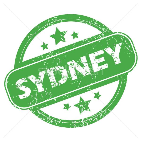 Sydney verde sello nombre estrellas Foto stock © ylivdesign