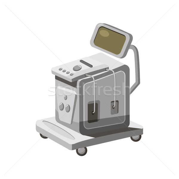 Ultrasonic scanner for medical examination icon Stock photo © ylivdesign
