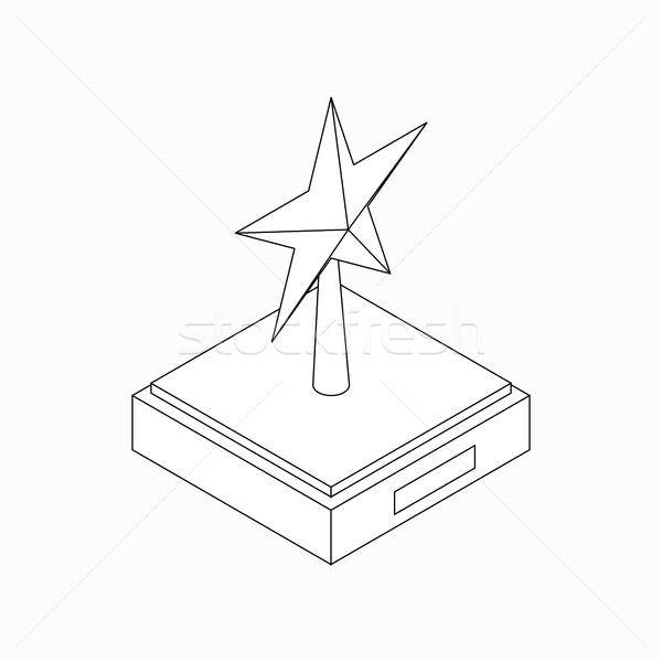 Star award icon, isometric 3d style Stock photo © ylivdesign