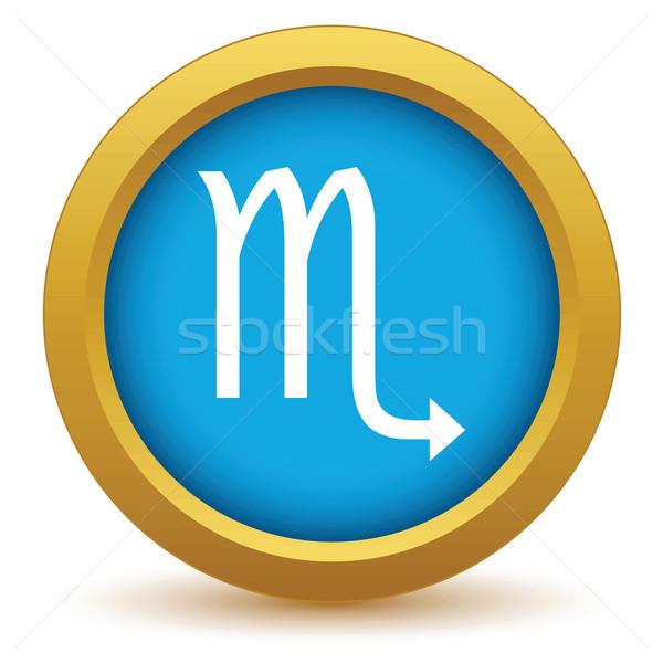 Gold Scorpio icon Stock photo © ylivdesign