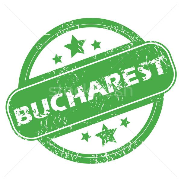 Бухарест зеленый штампа название звезды Сток-фото © ylivdesign