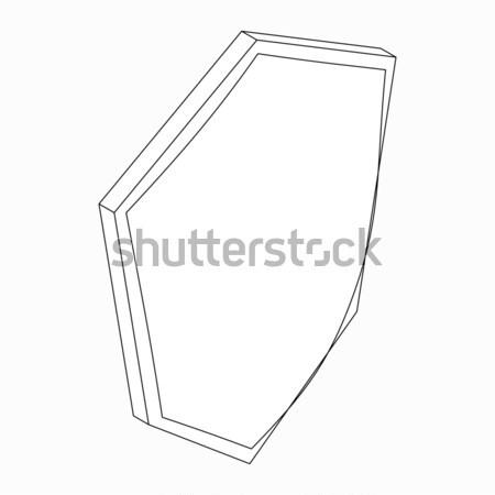 シールド アイコン アイソメトリック 3D スタイル 白 ストックフォト © ylivdesign