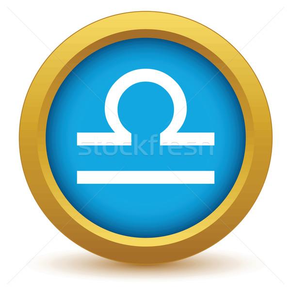 Gold Libra icon Stock photo © ylivdesign