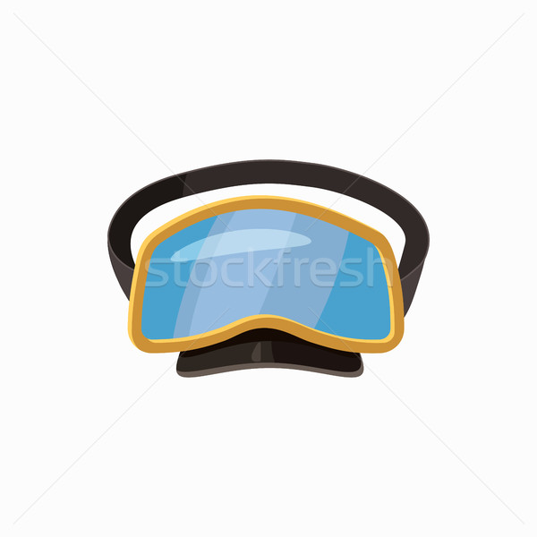 Duiken masker icon cartoon stijl geïsoleerd Stockfoto © ylivdesign