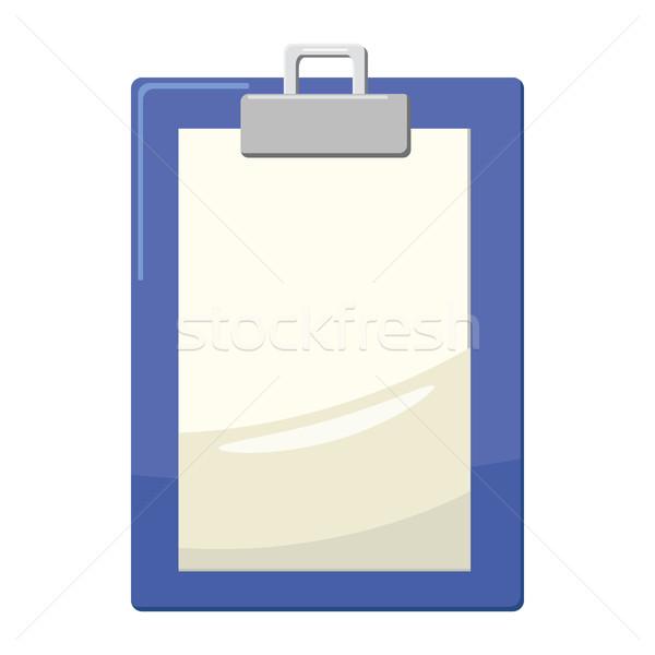 Vágólap üres papír ikon rajz stílus fehér Stock fotó © ylivdesign