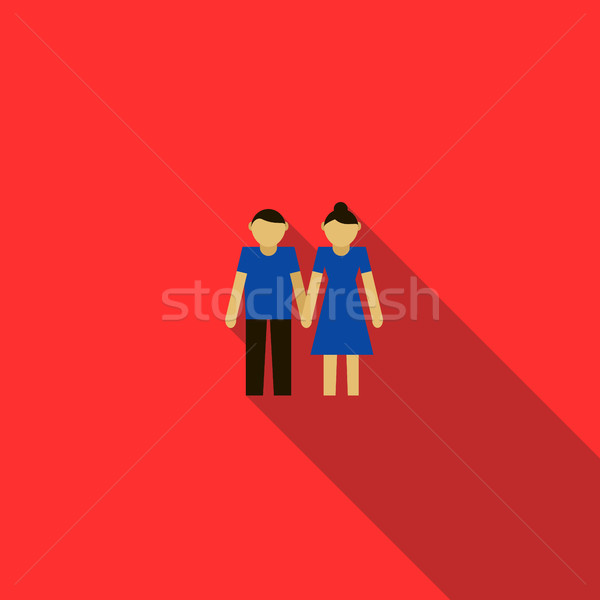 Young couple icon in flat style Stock photo © ylivdesign
