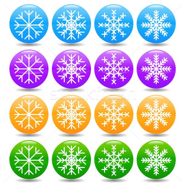 Snowflake set Stock photo © ylivdesign