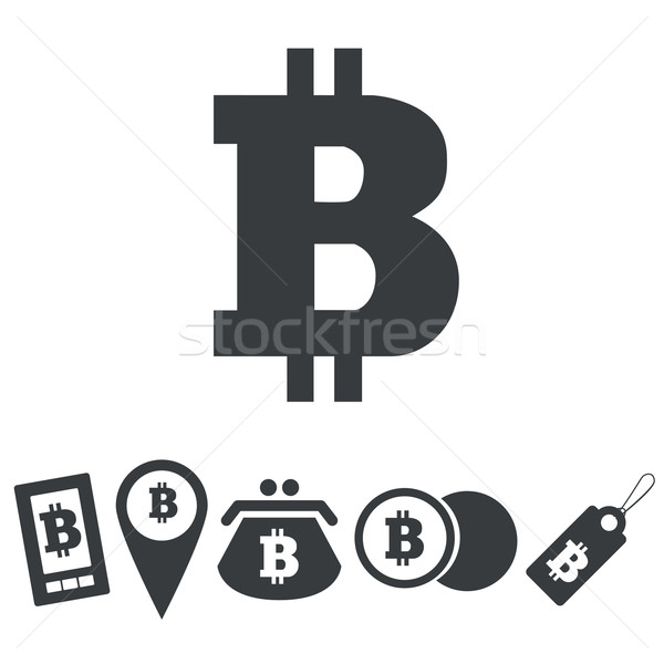 Simple bitcoin icon set Stock photo © ylivdesign