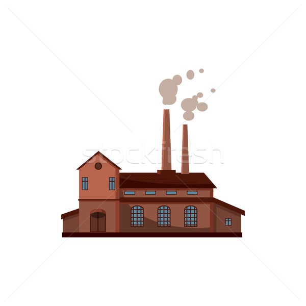 Factory building icon, cartoon style  Stock photo © ylivdesign