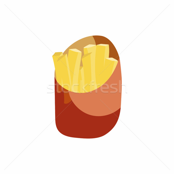 French fries in a paper wrapper icon Stock photo © ylivdesign