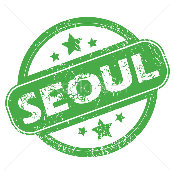 Seul verde carimbo nome estrelas Foto stock © ylivdesign