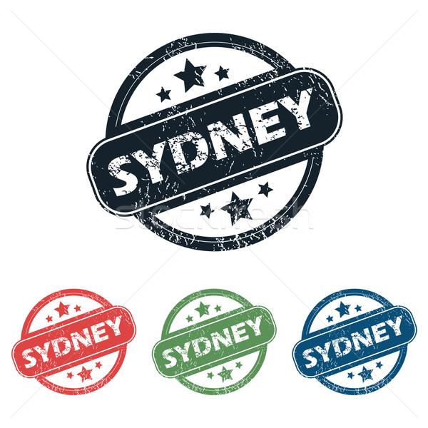 Sydney città timbro set quattro francobolli Foto d'archivio © ylivdesign