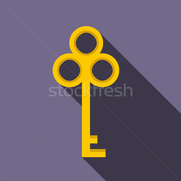 Hideg kulcs ikon stílus ibolya ház Stock fotó © ylivdesign