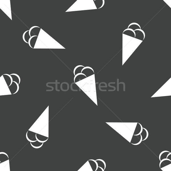 Gelato pattern immagine cono gelato alimentare estate Foto d'archivio © ylivdesign