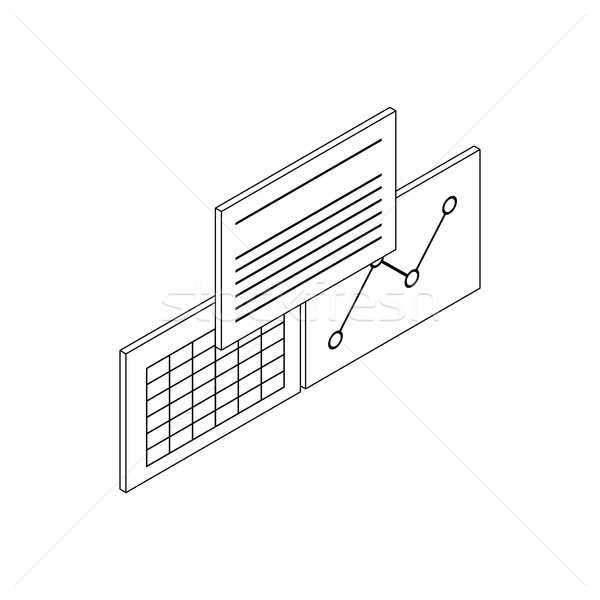 Patient records icon, isometric 3d style Stock photo © ylivdesign