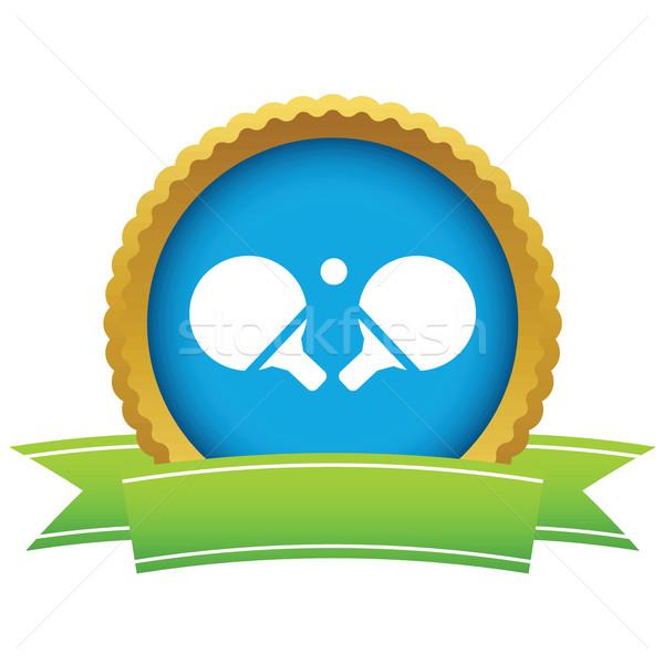 Tennis da tavolo icona nastro immagine isolato Foto d'archivio © ylivdesign