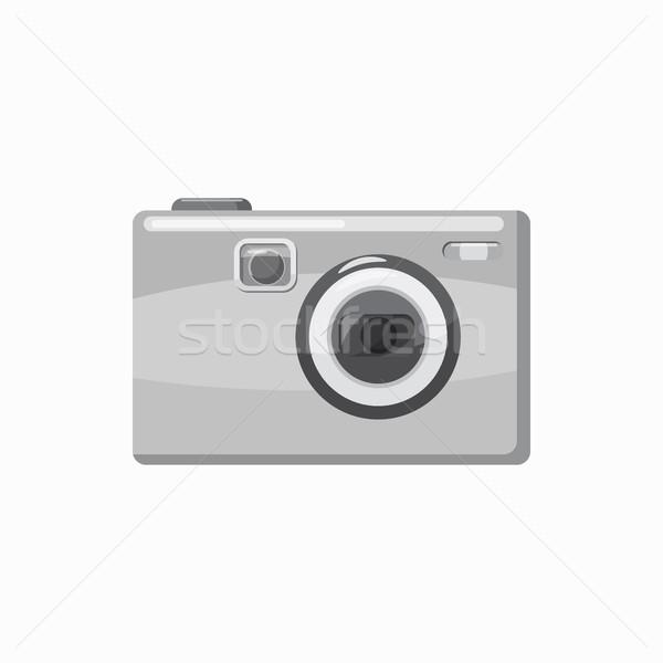 Fotó kamera ikon rajz stílus szürke Stock fotó © ylivdesign