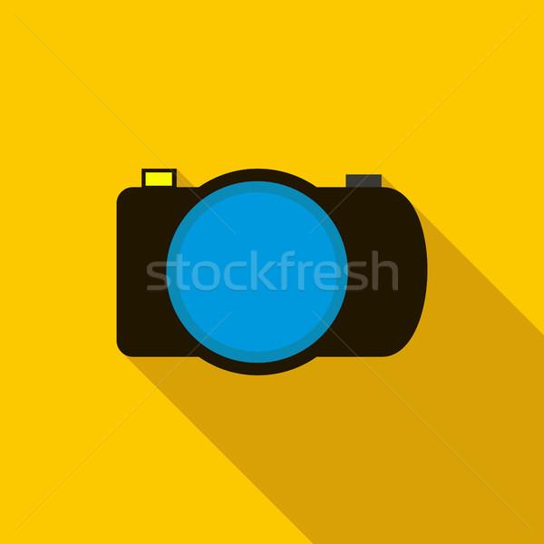 写真 カメラ アイコン スタイル 長い 影 ストックフォト © ylivdesign