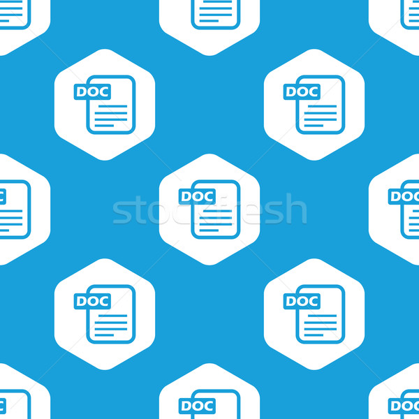 Doc file hexagon pattern Stock photo © ylivdesign