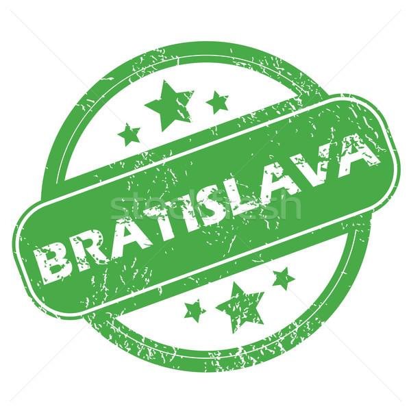 Bratislava verde ştampila nume stele Imagine de stoc © ylivdesign