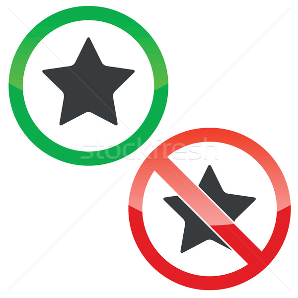 Star permission signs set Stock photo © ylivdesign