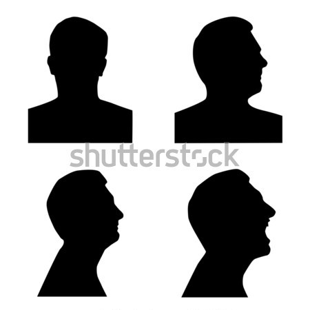 Profile silhouette set Stock photo © ylivdesign