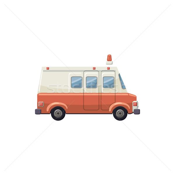 Ambulance voiture icône cartoon style blanche Photo stock © ylivdesign