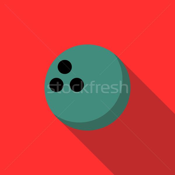 Bowlingkugel Symbol Stil rot Sport Ball Stock foto © ylivdesign