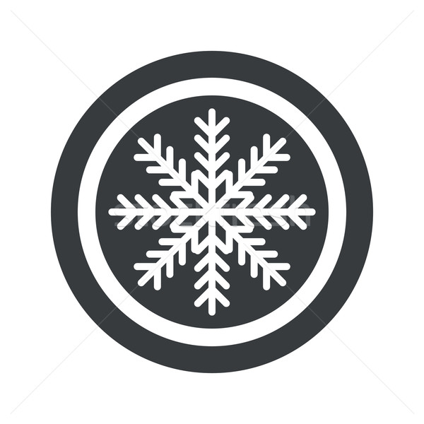 Round black winter sign Stock photo © ylivdesign