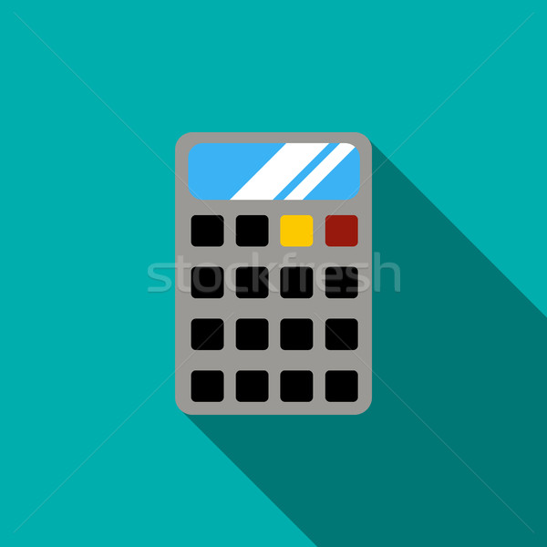 電卓 アイコン スタイル 青 オフィス キーボード ストックフォト © ylivdesign