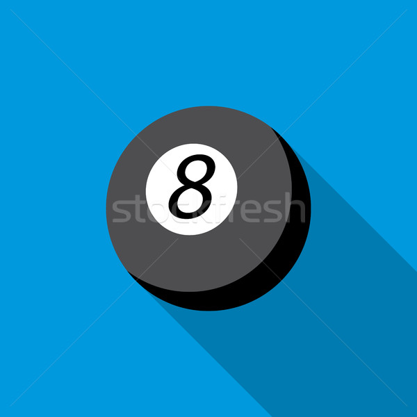 Snooker Pool Symbol Stil blau Tabelle Stock foto © ylivdesign