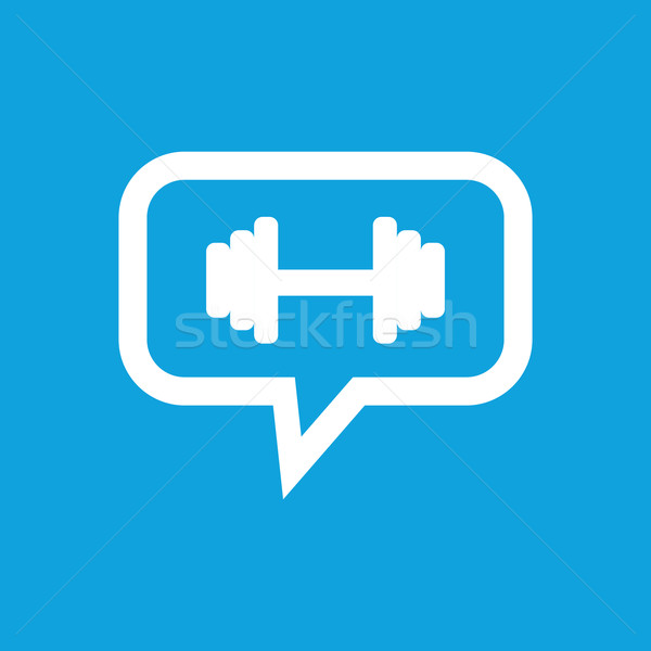 Barbell message icon Stock photo © ylivdesign