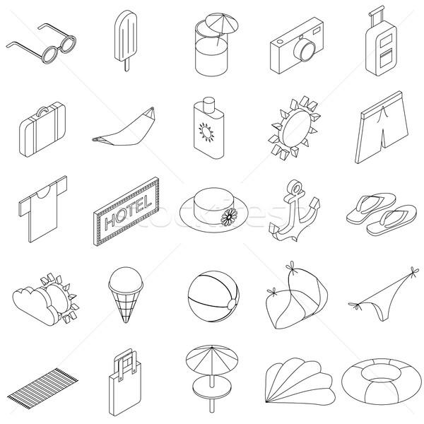 Summer Icons set vector illustration © Ivan Ryabokon