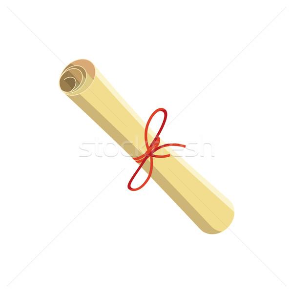 Tekert papír bürokrácia ikon rajz stílus Stock fotó © ylivdesign