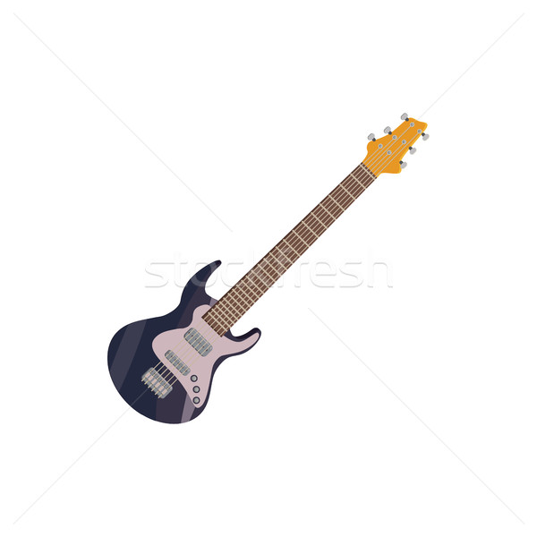 Black electric guitar icon, cartoon style Stock photo © ylivdesign