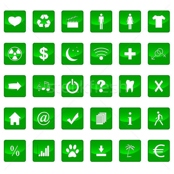 Big icons set Stock photo © ylivdesign