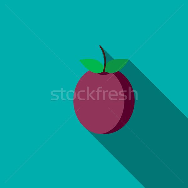 Plum icon, flat style Stock photo © ylivdesign