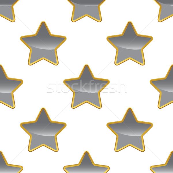 Grey star pattern Stock photo © ylivdesign