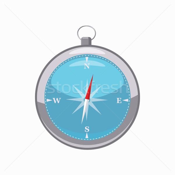 компас икона Cartoon стиль изолированный белый Сток-фото © ylivdesign