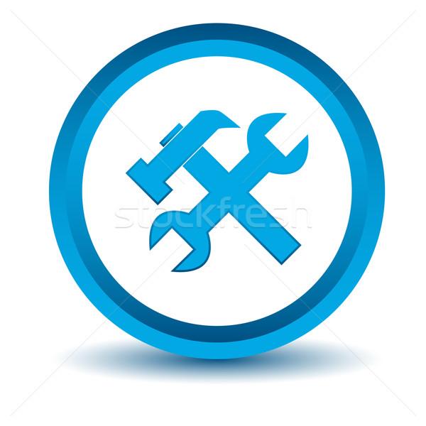 синий ремонта икона белый интернет дизайна Сток-фото © ylivdesign