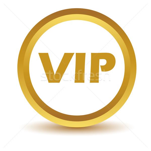 金 vip アイコン 白 ボタン WWWを ストックフォト © ylivdesign