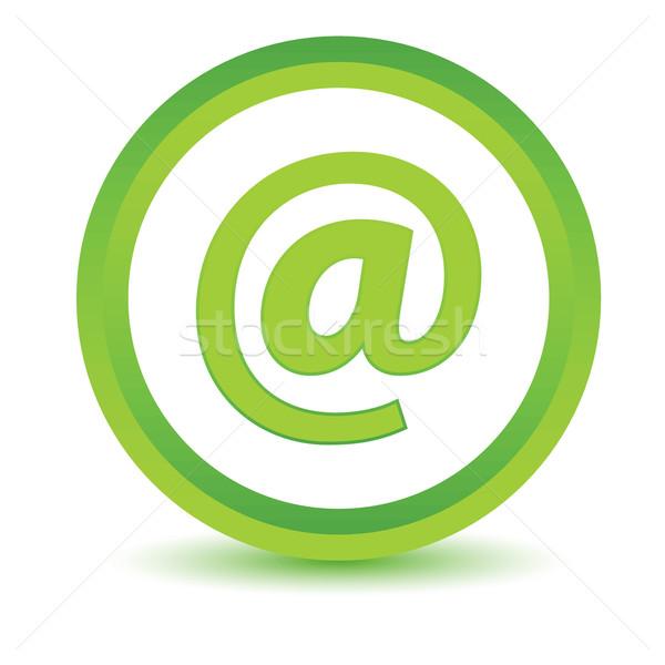 Yeşil e-mail ikon beyaz düğme www Stok fotoğraf © ylivdesign