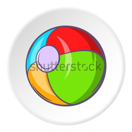 Szusi zsemle ikon rajz stílus izolált Stock fotó © ylivdesign