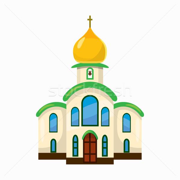 Building church icon, cartoon style Stock photo © ylivdesign