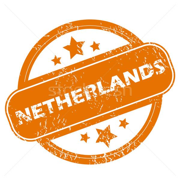 Niederlande Grunge Symbol orange weiß Stock foto © ylivdesign