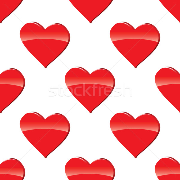 Red heart pattern Stock photo © ylivdesign