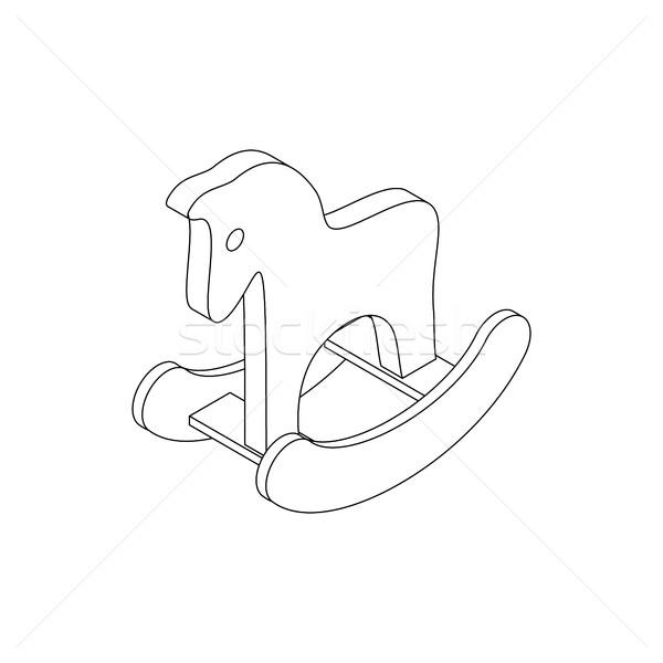 Paard speelgoed icon isometrische 3D stijl Stockfoto © ylivdesign